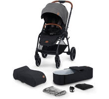 Коляска 2в1 Kinderkraft EVOLUTION COCOON Platinum Grey